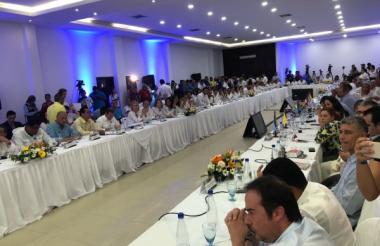 La reunión en Cúcuta.