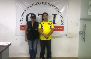 Alfredo Jesús Cogollo Valiente en la foto de reseña de su captura.