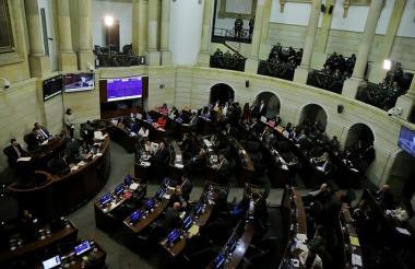 Aspecto de una sesión plenaria del Senado.