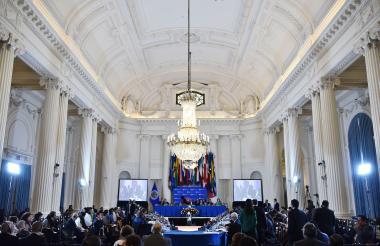 Vista general de la 48ª Asamblea General de la OEA, en el edificio principal del organismo en Washington.