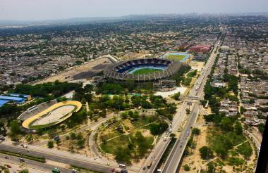 Vista panorámica de la localidad Metropolitana de Barranquilla.