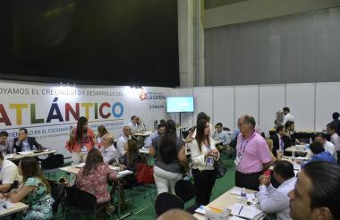 Aspecto general de la rueda de negocios realizada durante ExpProBarranquilla en el Puerta de Oro.