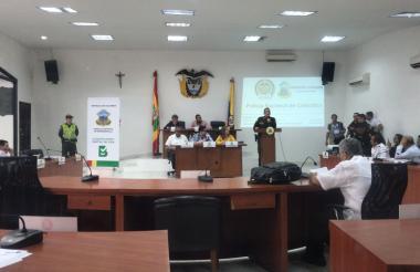 Aspecto del debate sobre seguridad realizado en el Concejo de Barranquilla.