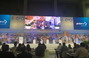 El presidente de Tigo Une, Marcelo Cataldo, en el panel Territorios y Transformación Digital, en ExpoProBarranquilla.