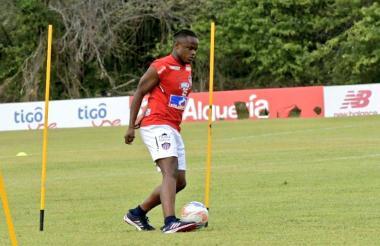 Iván Rivas durante el entrenamiento.