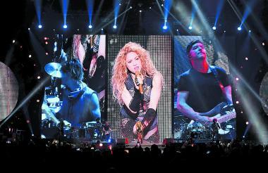 La cantante durante su 'show' en Hamburgo.