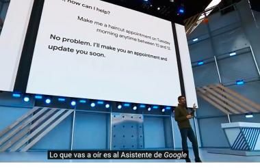 El presidente de Google, Sundar Pichai, en la rueda de prensa.