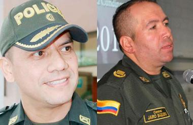 Coronel Fredy Correa Ahumada y Coronel Jairo Baquero.