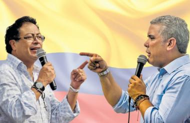 Los candidatos presidenciales Gustavo Petro e Iván Duque.