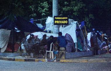 Imagen tomada a las afueras de la Terminal de Transportes donde se refugian inmigrantes de Venezuela desde hace varios meses.