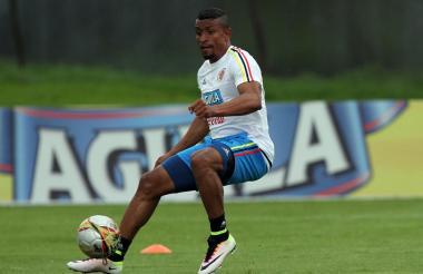 Farid Díaz se unió ayer a los entrenamientos de la Selección Colombia en Italia.