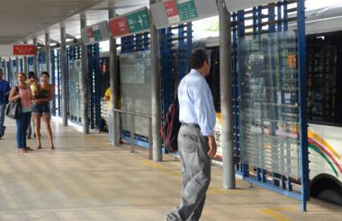 Estación Pacho Galán, en Soledad, donde ocurrieron los hechos de este sábado.