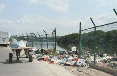 Aspecto de uno de los basureros en Cartagena.