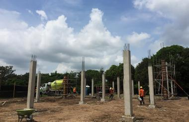 Este es el área donde se está construyendo el SEI.