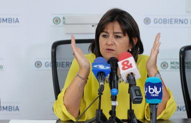 La ministra de Comercio, María Lorena Gutiérrez.
