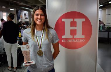 Gabriela Bolle, bicicrosista que representa al Atlántico, en EL HERALDO.
