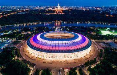 El Olímpico Luzhniki de Moscú se viste de gala para albergar el show inaugural y el primer partido del Mundial.