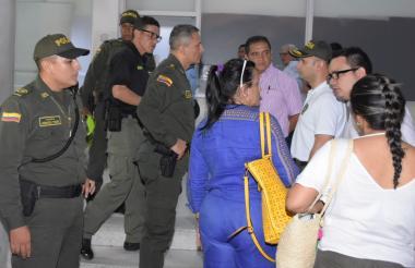 El general Mariano Botero Coy en la URI de la Fiscalía.