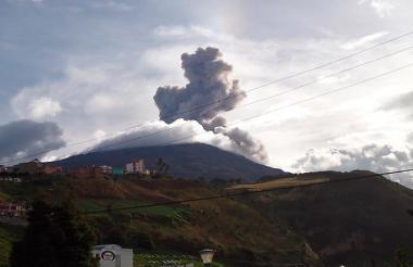 El volcán Galeras.