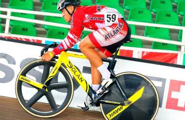 Cristian Ortega, ciclista del registro del Atlántico.
