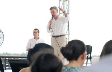 El presidente de la República, Juan Manuel Santos.