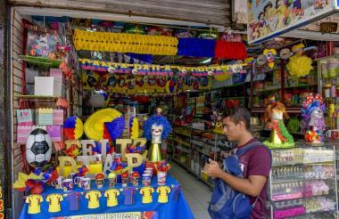 Comercio ubicado en el centro de Barranquilla.