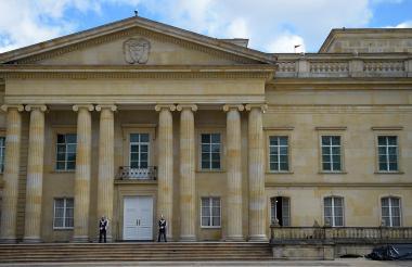 Aspecto del Palacio de Nariño en la ciudad de Bogotá,  sede de gobierno del próximo presidente.
