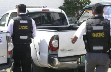 Funcionarios de la División contra Homicidios del Cuerpo de Investigaciones Científicas, Penales y Criminalísticas (Cicpc).
