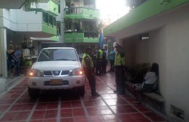La Policía llego al lugar tras conocer lo sucedido.