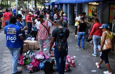 Ventas informales en el centro de Barranquilla.