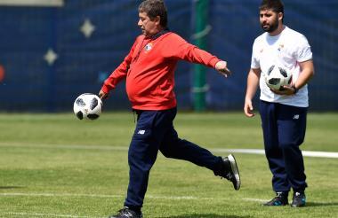 'Bolillo' Gómez durante un entrenamiento.