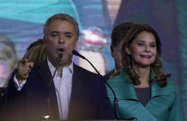 El nuevo presidente Iván Duque y su vicepresidenta Marta Lucía Ramírez.