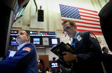 Trabajadores de la Bolsa de Nueva York.