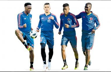 Yerry Mina, Mateus Uribe, Wílmar Barrios y Cristian Zapata estarían en la titular de Colombia para el juego ante Polonia.