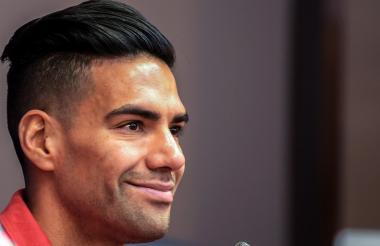 Falcao García durante la conferencia de prensa.