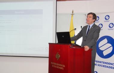 El superintendente de Sociedades, Francisco Reyes.