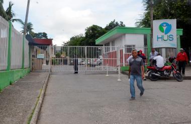 Fachada del Hospital Universitario de Sincelejo.