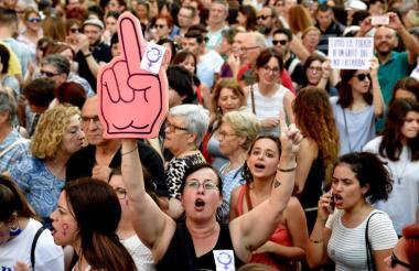 La manifestación realizada ayer en Madrid fue una de las que más personas reunió durante su recorrido.