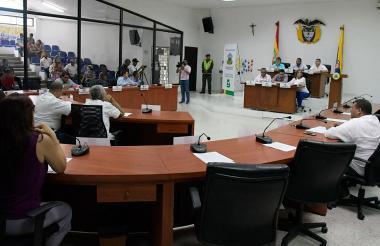 Sesión de la plenaria del Concejo Distrital.