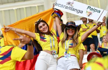 La belleza de la mujer colombiana también está presente en Rusia-2018.