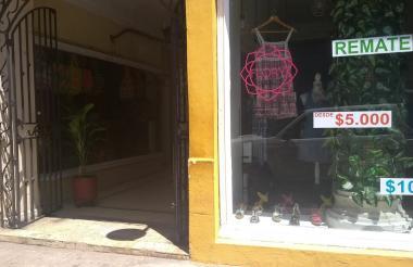 El sector comercial del centro de Cartagena fue uno de los más afectados.