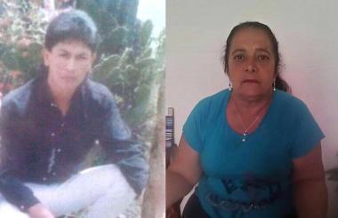 Arnulfo López Gámez, víctima, y su madre adoptiva, Elvira Penagos.
