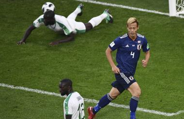 El veterano Honda marcó el gol del empate para Japón.