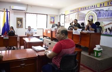 Sesión del Concejo de Soledad realizada a comienzos de junio.