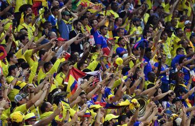 Aficionados de la Selección Colombia.