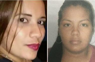 La víctima, Merly Ibáñez García (i), y la presunta agresora, Yildred Patricia Rúa Orellano (d).