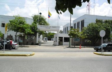 Comando central de la Policía en Riohacha.