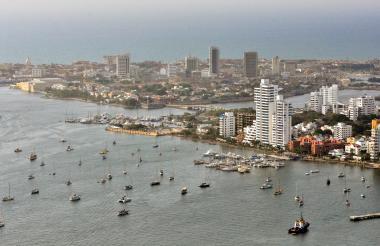 Panorámica de Cartagena, capital de Bolívar, departamento con mayor deuda.