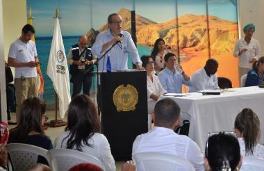 El procurador Carrillo durante el evento.