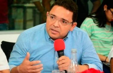 El alcalde de Santa Marta, Rafael Alejandro Martínez.